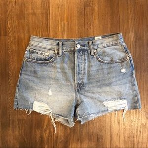 Free People High-Waisted Distressed Shorts